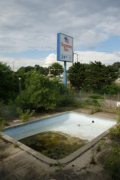Abandoned Motel, only $24.99 a night! Bargain.