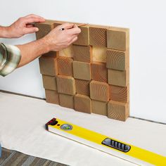 Wood block wall how-to.