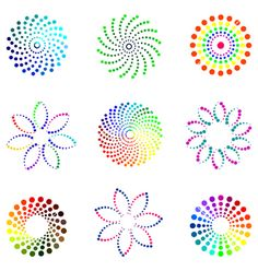 Dot design elements vector 70308 - by troyka The Effective Pictures We Offer You About Design Elemen Dot Painting Tools, Stone Art Painting, Dot Art Painting, Rock Painting Designs, Painting Patterns, Mandala Design, Mandala Dots, Mandala Pattern, Mandala Art Lesson