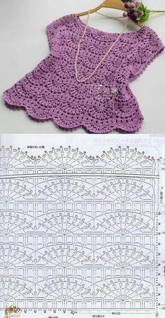Débardeurs Au Crochet, Bikini Crochet, Crochet Diagram, Crochet Chart, Crochet Stitches, Crochet Summer, Easy Crochet, Black Crochet Dress, Crochet Skirts