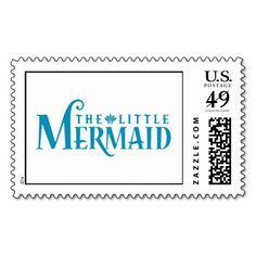 The Little Mermaid Blue Logo Disney Stamps