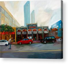 American Towns Acrylic Print featuring the painting San Diego by Carmen Stanescu Kutzelnig Thing 1, Framed Prints, Canvas Prints, Acrylic Sheets, Any Images, Got Print, Art Pages, Clear Acrylic, Fine Art America
