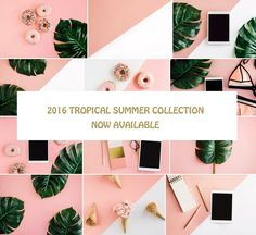 TROPICAL SUMMER COLLECTION 12 IMAGES - Product Mockups #photo #photography #stock #social #styled #image #stockimage #stockphoto #mockup #blog #blogging