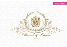 luxury wedding monogram-wedding logo-wedding crest-custom wedding monogram-signo-monograma-monograma de la boda-signo de la boda- by Linvit on Etsy