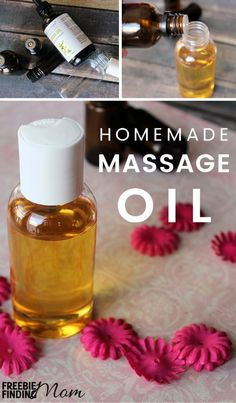 Need help relaxing at the end of a long day? Either you or your partner can rub this Homemade Massage Oil Recipe onto your skin to help elevate stress. In addition to helping you unwind, this Homemade Massage Oil is loaded with essential oils that smell a Mason Jar Crafts, Mason Jars, Dollar Stores, Diy Beauty, Beauty Hacks, Essential Oils, Perfume Bottles, Make It Yourself, Oil Recipe