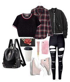 """""""School Days"""" by burnttoasts ❤ liked on Polyvore featuring H&M, WithChic, Madewell, Wild & Woolly and AERIN"""