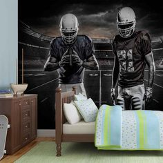 WALL MURAL PHOTO WALLPAPER XXL American Football Stadium (1111WS) #WallpaperPhotoWallMuralbyWallstickerwarehouse