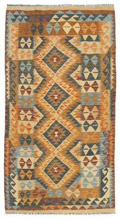 Kelim Afghan Old style-matto 102x191