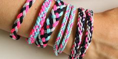 Friendship Bracelet – Pearl Soho - Home Camping Activites For Kids, Summer Camp Activities, Camping Crafts, Kids Camp, Diy Jewelry, Jewelry Making, Macrame Jewelry, Jewellery, Braided Friendship Bracelets