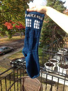 Ravelry: Tardis socks (my version) pattern by Amelie BJ