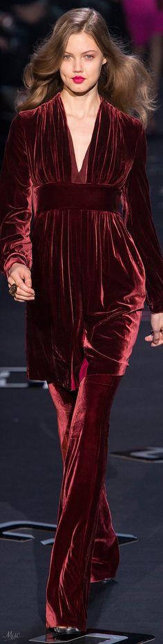 Marsala, Couture Embellishment, Velvet Fashion, Burgundy Color, Diane Von Furstenberg, Wedding Designs, Lady In Red, Catwalk, High Fashion
