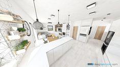 Minimalist Interior, Office Desk, Kitchens, Bed, Furniture, Home Decor, Desk Office, Decoration Home, Desk