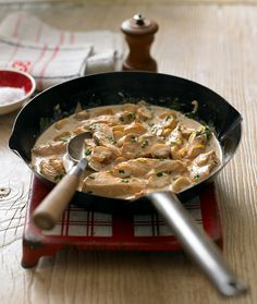 Try this hearty creamy chicken recipe made with cider, mushrooms, anchovies and double cream.