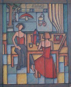 Dos Pocillos de Café -65x78cm-Oleo sobre hardboard-2012-Maria Teresa Barrios