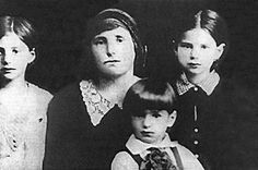 Elie Wiesel, as a child with his mother and sisters.