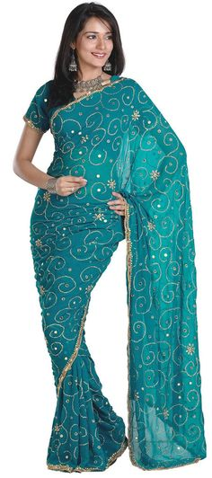 Peacock Blue Sari. Maybe I'll wear this for my birthday..... but I don't like wearing heavy jewelry.