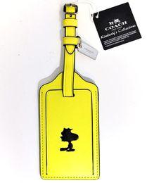 ee4542a141e4 COACH X SNOOPY Peanuts Woodstock Limited Edition Travel Luggage Bag ID Tag  NWT