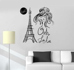 Vinyl Wall Decal Eiffel Tower Paris French Fashion Girl Room Stickers (ig3294) #WallStickers4you