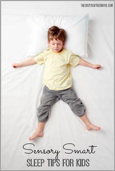 trouble sleeping sensory tips