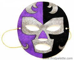 Step 9 Luchador Paper Mask craft