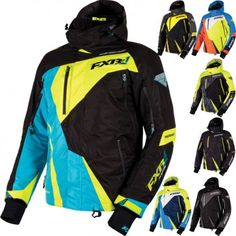 FXR Racing Mission X Mens Skiing Snowboard Sled Snowmobile Jackets
