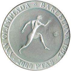 2000 Pesetas 1990 Juegos Olimpicos Barcelona'92 Corredor griego.