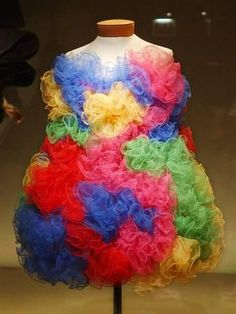 Colorful Silk Tulle Dress Photographic Print at Art.com
