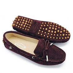 TDA Womens Hiking Brown Leather Driving Walking Loafers Shoes Multi Colored 85 M US * Learn more by visiting the image link.