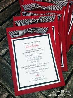 blank red and black wedding invitations - Google Search