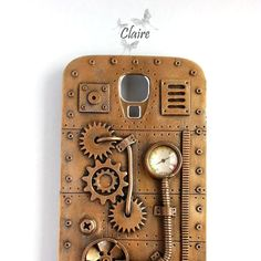 Steampunk Samsung Galaxy S4 i9500 Case. Android Phone Case. Steampunk Case. Steampunk Phone Case. Vintage Steampunk…