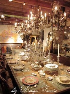 diy Design Fanatic: Vintage and Spring Tablescapes