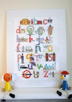 Children's Print: London A to Z by Kate Anniss