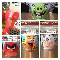 """@newportcoastmenchies's photo: """"Look what came in today! Come in and check out all of our Angry Bird cups and spoons! #newportcoastmenchies #newportcoast #menchies #orangecounty #frozenyogurt #froyo #comejointheyum #menchiesfrozenyogurt #angrybirds"""""""