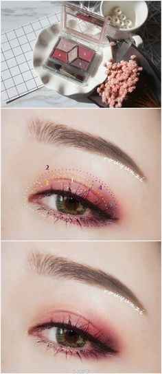Korean makeup tutorials: Eating well might help someone to have a beautiful and stay that way. A nutritious diet can keep you eliminate fat and feeling great. This will likely boost your appearance and feel happy. #koreanmakeuptutorials Cute Makeup, Kiss Makeup, Makeup Looks, Kawaii Makeup, Makeup 101, Makeup Inspo, Beauty Makeup, La Face, Ulzzang Makeup
