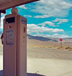 Vintage gas station in Death Valley
