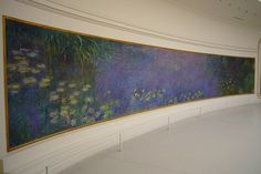 """Monet was the creator of this painting titled """"Waterlillies"""". As a teen, this painting visited my hometown and I was privileged to see it."""