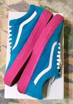 2640501eb7c274 Vans Syndicate Golf Wang Old Skool Pro S Sz 11.5 Blue Pink Green Tan Tyler  Vans