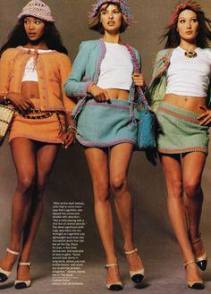 [chanel minis] vogue. march 1994. steven meisel + carlyne cerf.