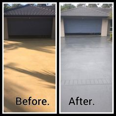 Driveway painting Brisbane, Gold Coast by www.waterworxpressurecleaning.com.au