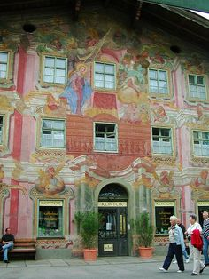 Mittenwald, Bavaria:  Goethe called it a living picture book because of the beautiful painted buildings