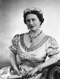 """ELIZABETH THE QUEEN MOTHER (1900-2002). Beloved British monarch who faced many 20th century challenges. Affectionately called """"The Queen Mum""""."""
