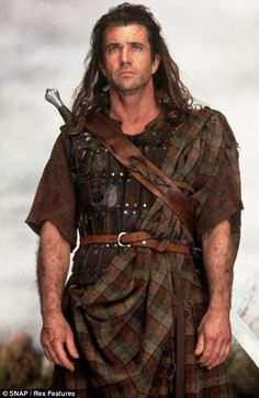 Mel Gibson/William Wallace. Only the best history character ever. #Braveheart