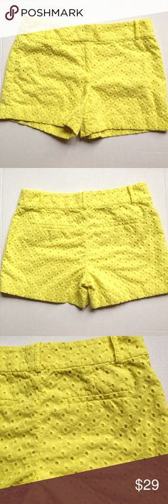 "Loft ""The Riviera short"" Very cute Loft ""The Riviera short"" eyelet in bright yellow color. LOFT Shorts"