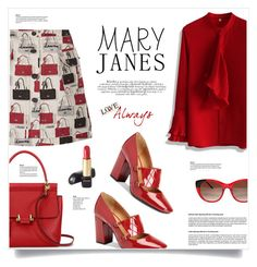 """""""Mary Jane"""" by kiki-bi ❤ liked on Polyvore featuring Lanvin, Calvin Klein, Chicwish, Thierry Lasry and Lancôme"""