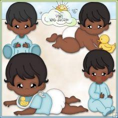 Bouncing Baby Boys 3 - Non-Exclusive Clip Art