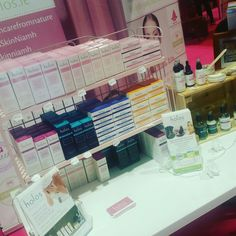 On shelves ready to go for Holistic Health Show in NEC Birmingham