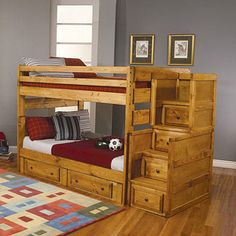 Coaster Wrangle Hill Full-over-full Bunk Bed, Amber