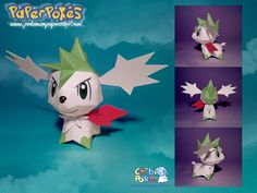 Paperpokés- Pokémon Papercrafts: SHAYMIN SKY FORME CHIBI