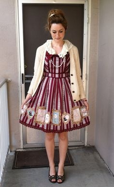 Butterscotch Bullets - Two casual lolita/otome kei outfits for 80+...