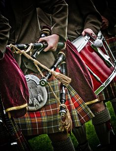 Piper and Drummer - Shotts Highland Games
